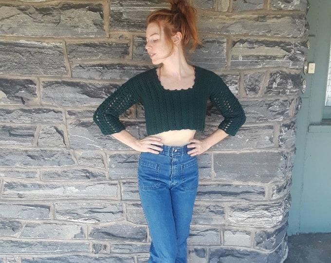 Crochet sweater, crop sweater, sweater, transitional sweater, crochet jumper, FALL sweater, crop top, gift for her, womens sweater, shrug