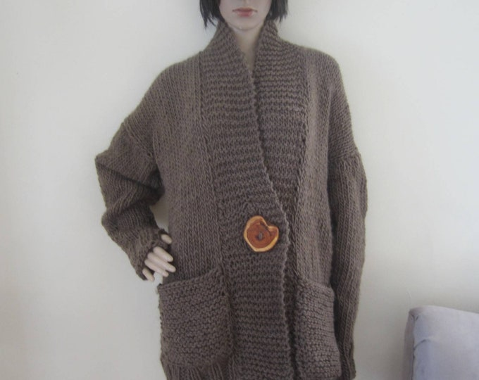 Cardigan,knit cardigan, oversize wool alpaca sweater, Knit sweater, womens cardigan, Knit cardigan, Grandpa cardigan, oversize cardigan,gift