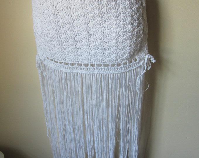 FRINGE CROCHET SKIRT, festival skirt, crochet skirt, Fringe, hippie skirt, beach cover up, beach skirt, dancing skirt, summer festival, gift