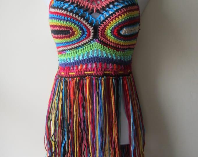 PERFECT FESTIVAL TOP, festival clothing, crochet halter top, gypsy clothing, boho  festival top, gift for her, music festival clothing,