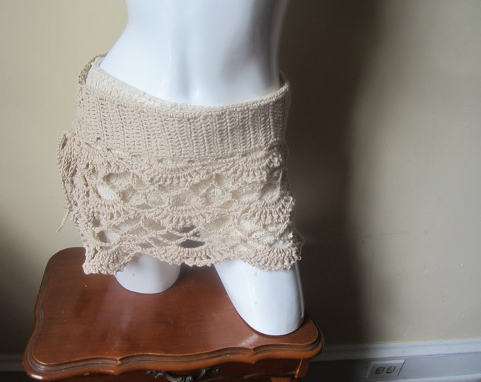 Sarong skirt,  Mini, crochet Sarong skirt, Sarong beach skirt, crochet Lace skirt, beach cover  up, summer skirt, boho, hippie, festival