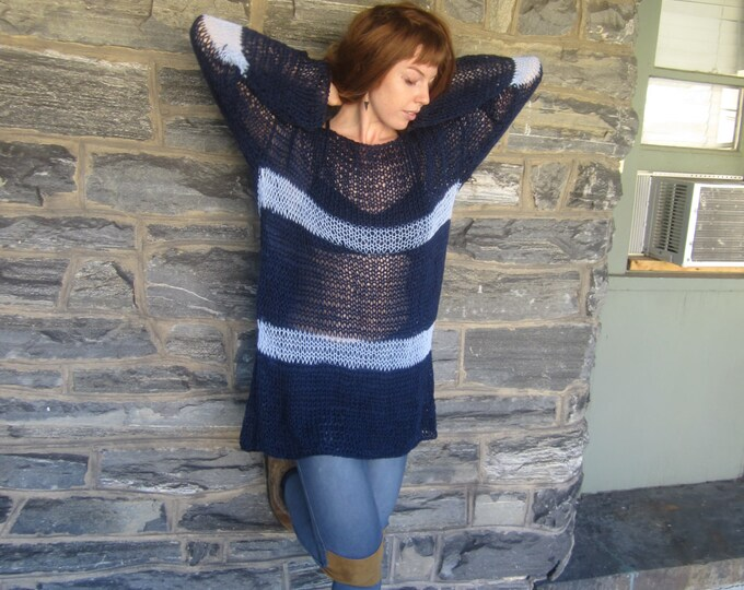 KNIT TUNIC DRESS, sweater dress, knit cotton tunic, Tunic, knit sweater, cotton sweater, Boho sweater, hippie sweater, grunge sweater