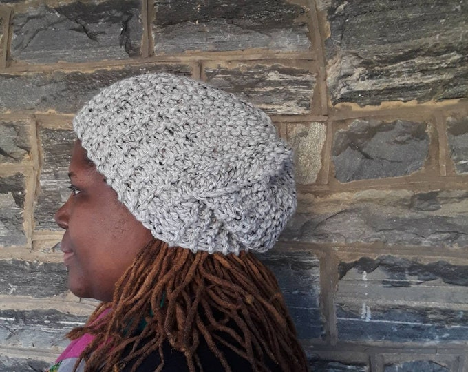 DREADLOCS slouchy Beanie/chunky beanie/slouchy beanie/winter hat/dreadlock hat/bad hair day beanie/knit hat/knitted beanie/hand knit hat