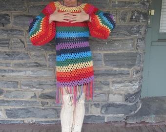 Crochet dress, MARRAKECH FESTIVAL DRESS, festival dress, festival clothing, beachwear, boho crochet dress, gypsysoul dress,  summer dress
