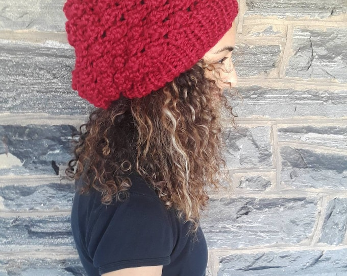 SLOUCHY BEANIE/ Knit slouchy beanie/dreadlock beanie/womens hat/beanie for dreadlocks/knit Slouchy Hat, Slouchy Beanie Hat/gift/afro beanie