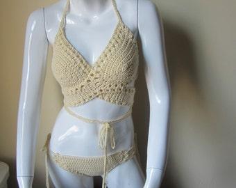 Crochet bikini set, wrap top bikini set, lace up bikini set, crochet swimwear, crochet bikinis, swimwear, bathing suits, bikinis, beachwear