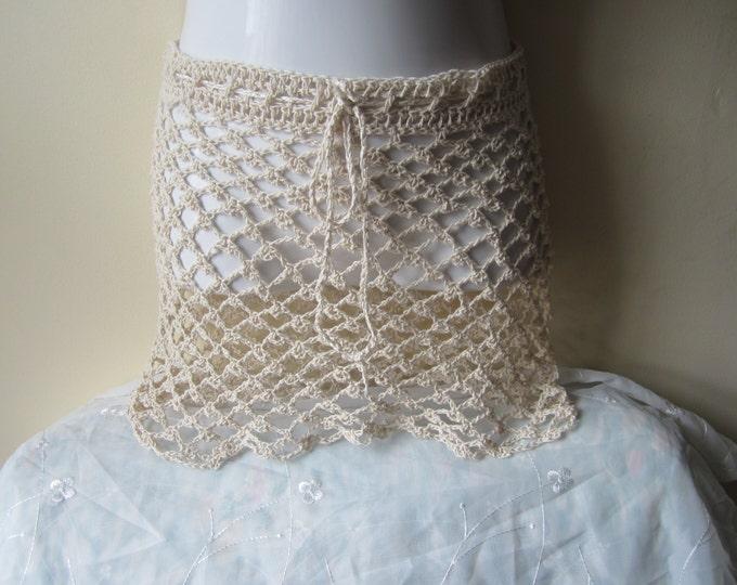Crochet skirt, lace skirt, overlay crochet skirt, beach cover up, boho, festival skirt, gypsy skirt, hippie, cotton