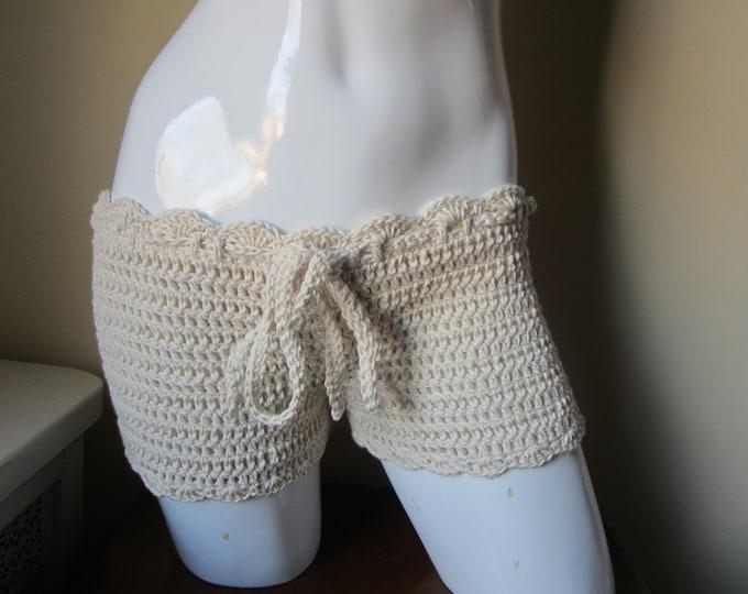 crochet shorts,  summer short,bikini cover,  beach cover up,  shorts, festival clothing, gypsy, boho,