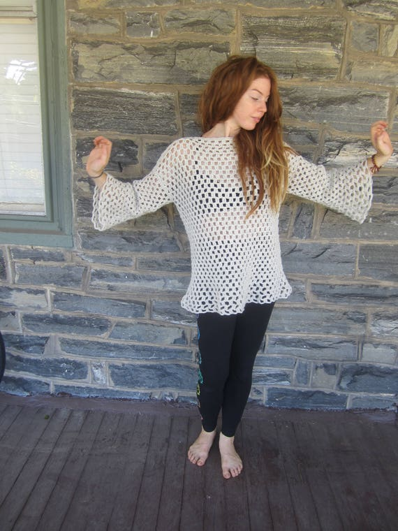 tunic tunic Womens CROCHET festival clothing boho clothing TUNIC sweater sweater SWEATER priestess Oversize hippie flared gypsy XSSxIPnqw