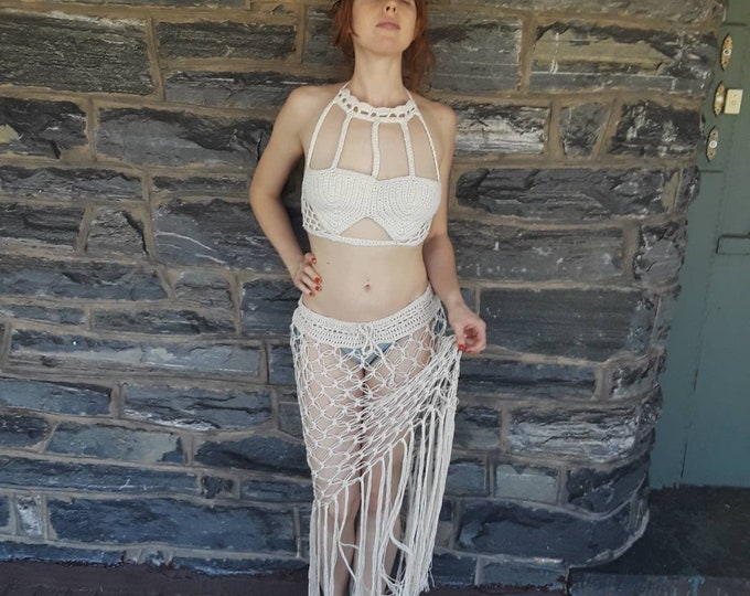 Crochet Crop top, PERFECT FESTIVAL TOP, festival clothing for women, harness top, Edm festival top, festival clothing 2018, gypsy clothing