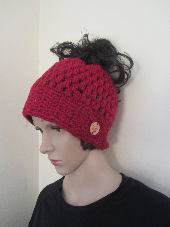 e27745bdfcb74 messy bun beanie MESSY BUN HAT ponytail beanie crochet hat bun ...