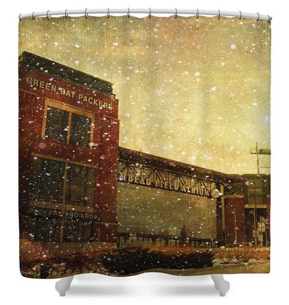 The Frozen Tundra Shower Curtain Green Bay Packers Lambeau