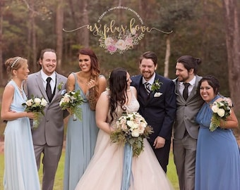 Upscale Dresses Multiway Bridesmaids Dress ALL CUSTOM made to measure Vintage Chic Wedding Convertible Multiway (like Twobirds but tailored)