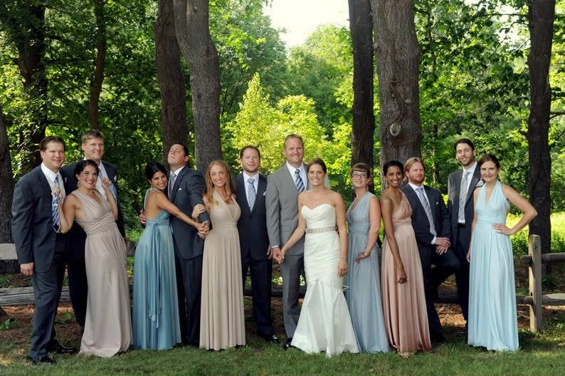 Upscale Bride Tailored Size /& Length Infinity Convertible Bridesmaid Dress Multiway Lace Dresses rosegold marsala rosewater blush dusty blue