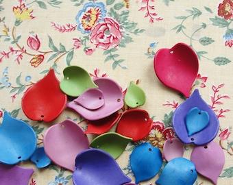 36 Vintage Resin  Leaves Multicolor Sample Pack