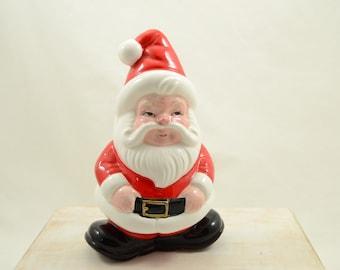 Vintage Lefton Santa Claus Napkin Holder Korea 1960s Santa Ceramic