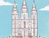 Children's Wall Art Print - I Love to See the Temple