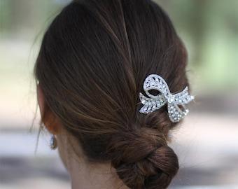 Swarovski Crystal Victorian Royal Vintage Style Flower Floral Rhinestone Bridal Wedding Head Piece Hair Comb Fascinator Jewelry Adornment