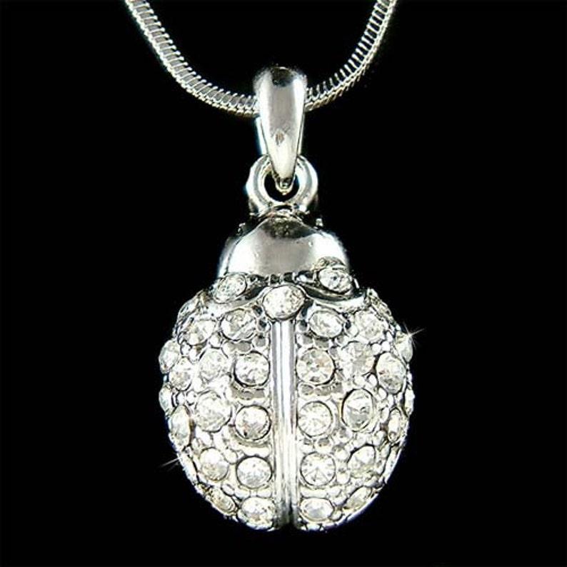 a76df3101079c Swarovski Crystal Lady Bug biedronka biedronka owad Biżuteria   Etsy