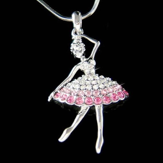 Ballerine Recital Danse la Danseuse Ballet Pendentif Bracelet Collier