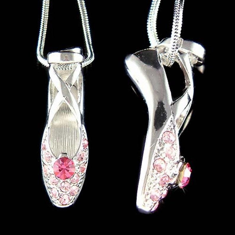 6b2be5c05981 Cristal Swarovski Rosa Bailarina Ballet danza zapatos