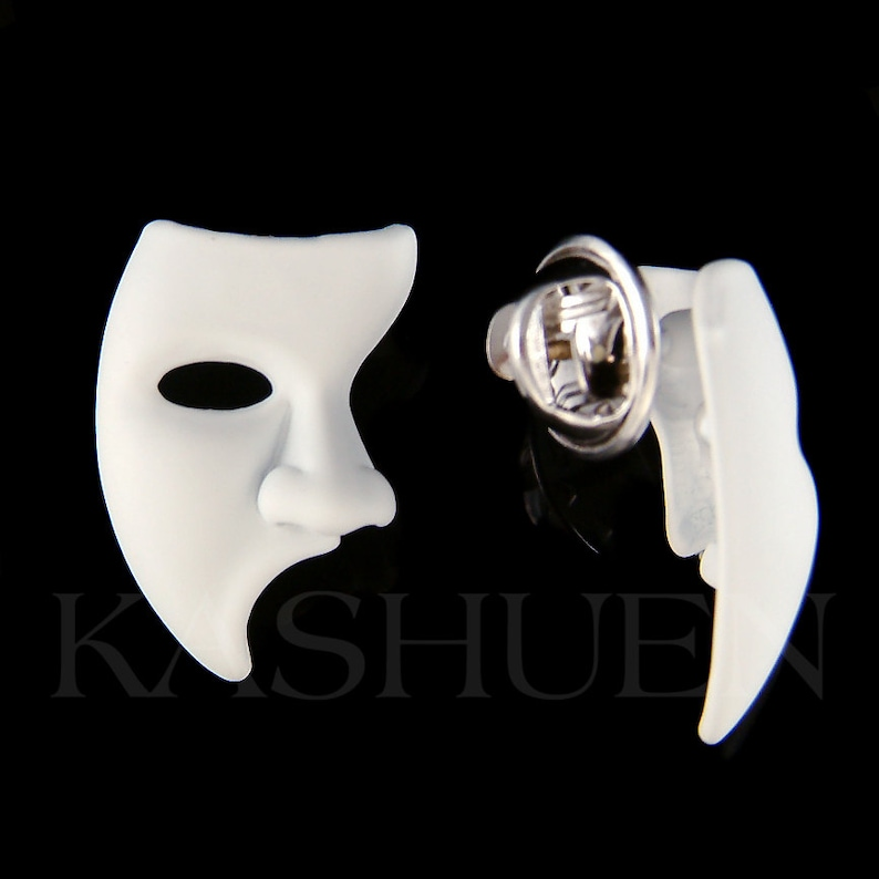 The Phantom of the Opera Broadway Masquerade Mask Dance Tie Tack Clutch Lapel Pin Christmas Best Friend Friends Unique Unisex Gift New