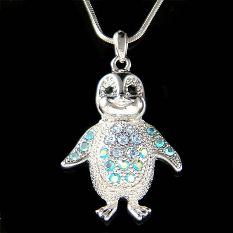 fee68bab83 Swarovski Crystal Blue Baby Pinguino imperatore Antartide | Etsy