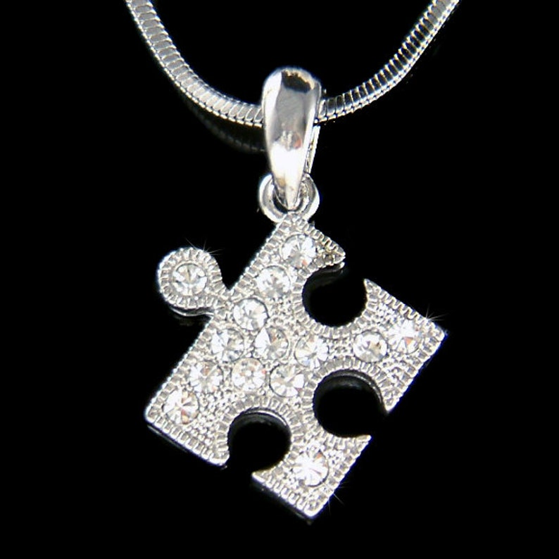 4709808d0f9 Cristal de Swarovski delicada lindo rompecabezas Autism