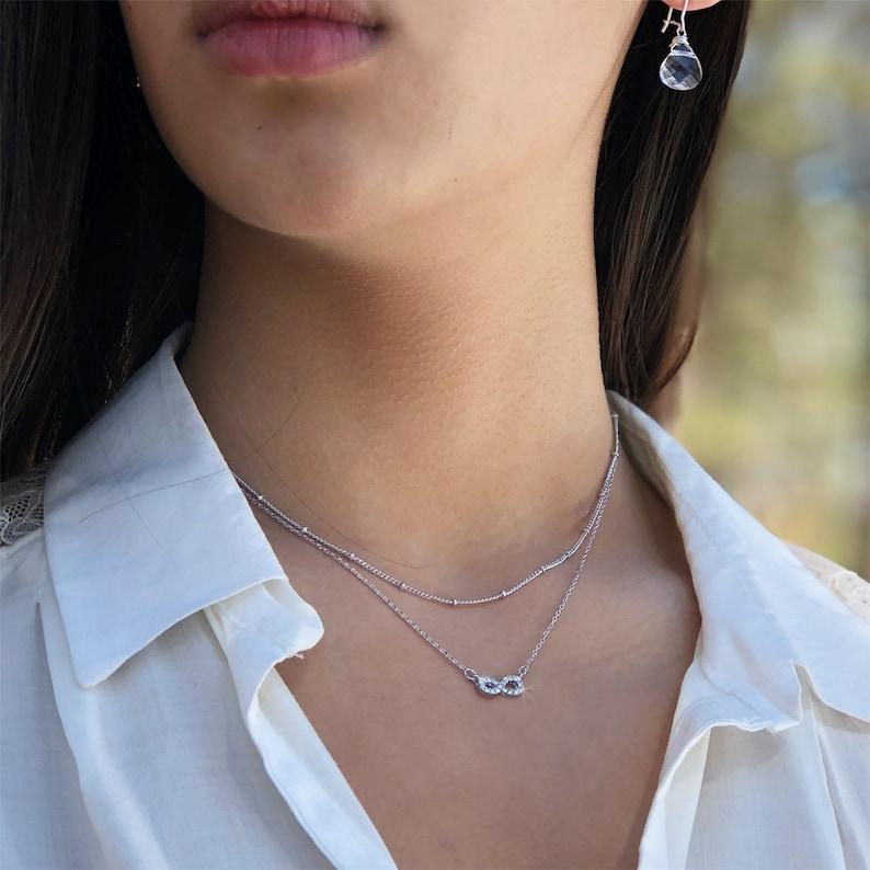 ab0496037 Dainty Swarovski Crystal Infinity Symbol Karma Sign Forever   Etsy