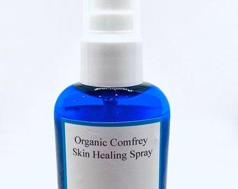 Organic Comfrey Skin and Scalp Healing Spray, Eczema, Psoriasis, Dandruff, Dermatitis