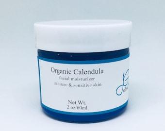 Calendula moisturizing facial lotion dry skin relief,acne,sensitive,allergies,anti aging