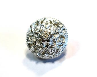 11 x 14mm Antique Bali Style 925 Sterling Silver Oval Bead Limited Edition #446