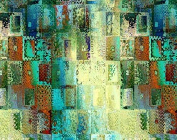 Brick Patchwork Handmade Artisan Textile Art Velvet Upholstery Fabric Reupholster Fiber Art