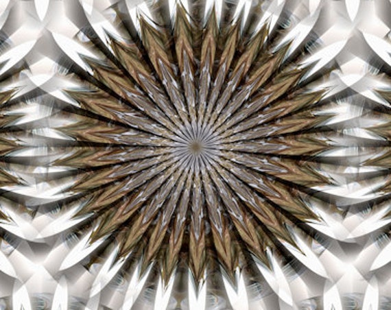 Kaleidoscope Artist Handmade Zigzag Crepe De Chine Caftan Fabric Apparel Sheer Home Decor