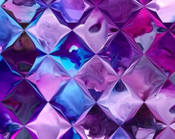 Diamonds Purple Pink Handmade Brown Turquoise Velvet Upholstery Fabric Fiber Art