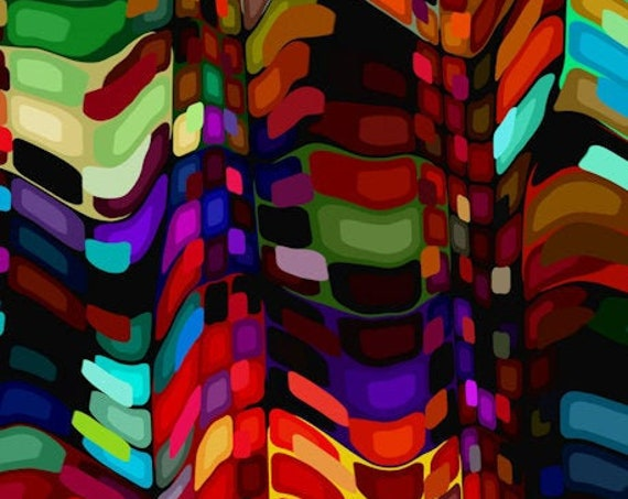 8 Yards 3D Modern Abstract Colorful Artisan Handmade Velvet Upholstery Fabric By The Yard