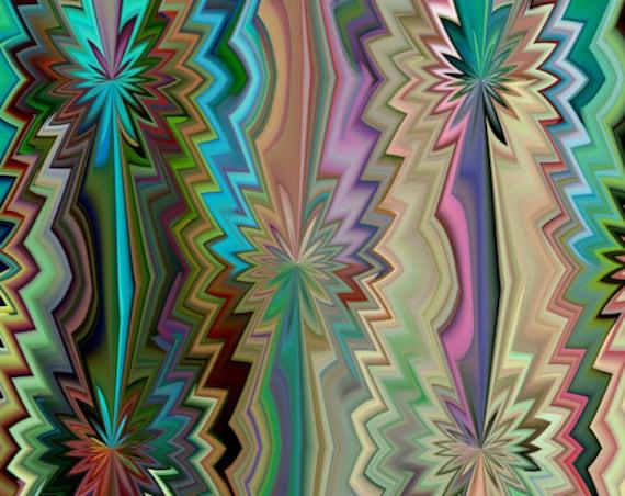 Flower Pedals Textile Artist Designer Fashion Hand Created Jersey Lycra Spandex Knit Fabric