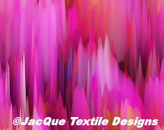 Handmade Purple Pink Icicles Velvet Upholstery Fabric Fiber Art Modern Fabric