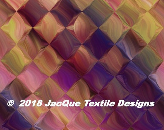 Checkboard Modern UNIQUE Handmade Teal BlueVelvet Upholstery Fabric Shimmer Fiber Art Fabric