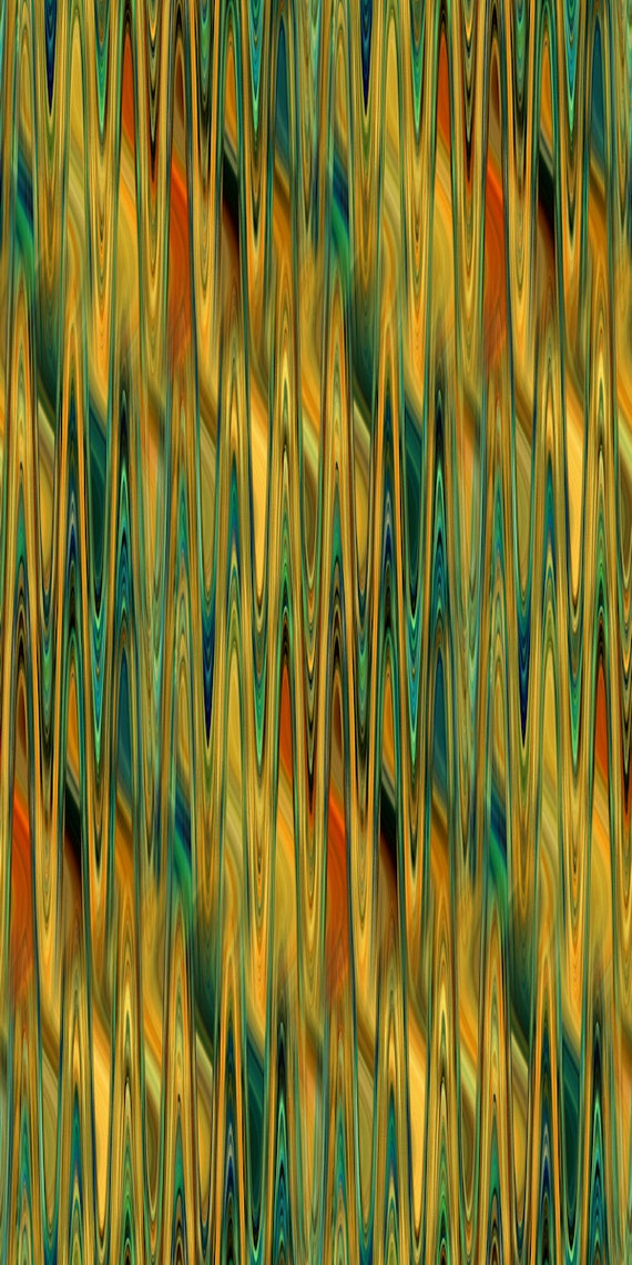 Designer Earthtones Stripes Colors Artist Created Satin Fabric Fiber Art Abstract Rich Fashion