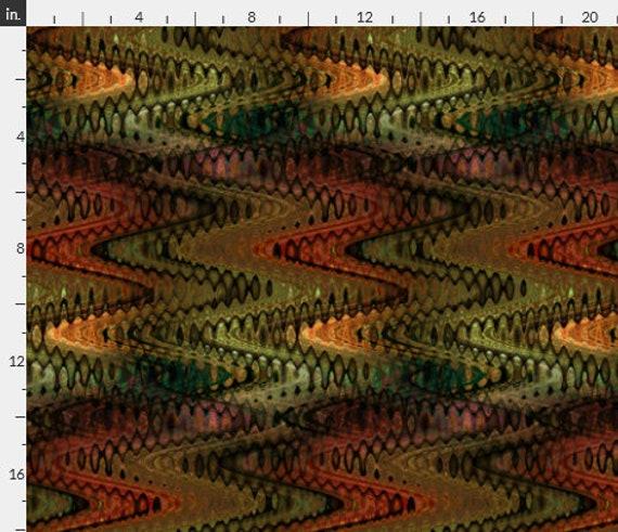 Velvet Upholstery Fabric Fall Colors Trend One of a Kind Handmade Commercial Grade Fabric Fiber Art