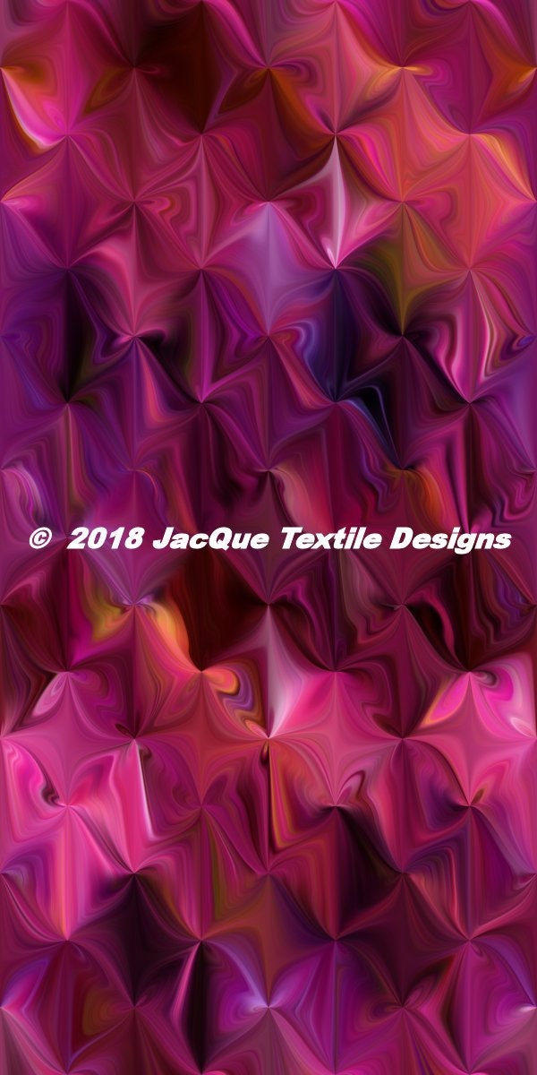 Purple Pink Lavender Abstract Triangle Artisan Textile Art Velvet