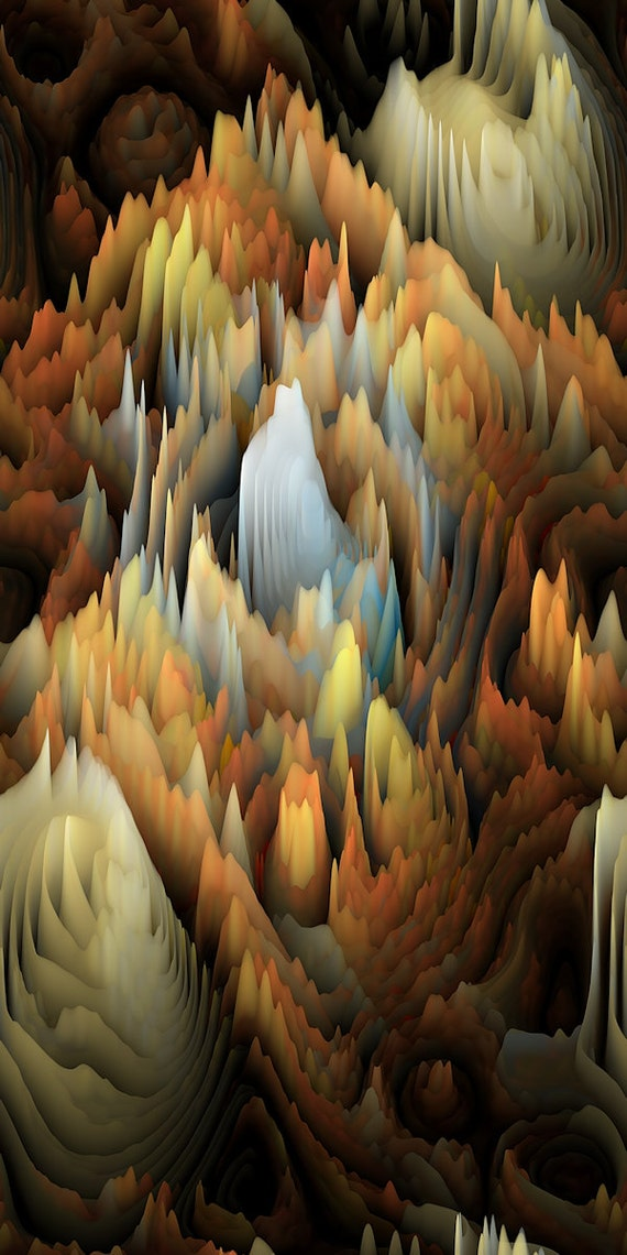 Artisan Modern Maze Fall Color Sateen Cotton Textile Artist Made Fabric Home Decor Drapery Pillows