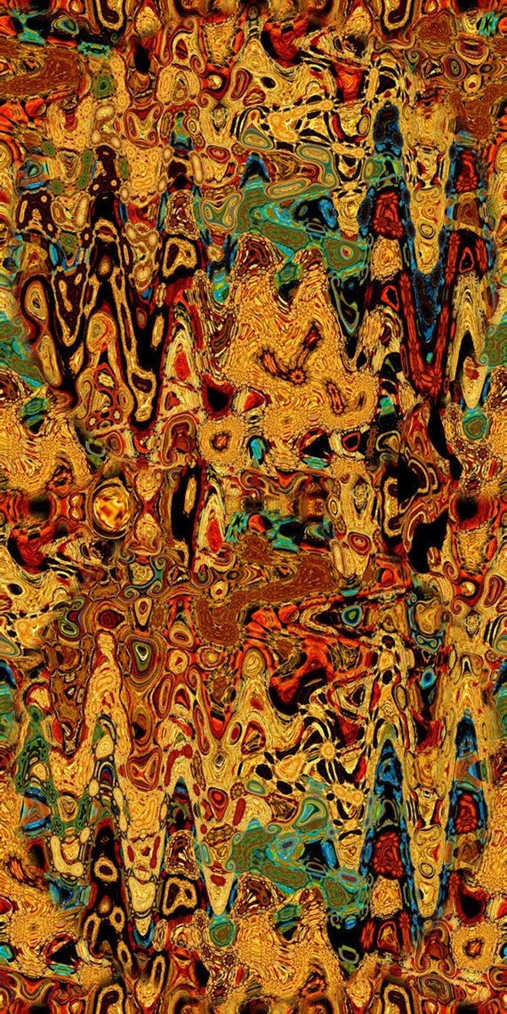 Velvet Upholstery Fabric Artisan Made Autumn Golden Fabric By The Yard Fiber Art Marble