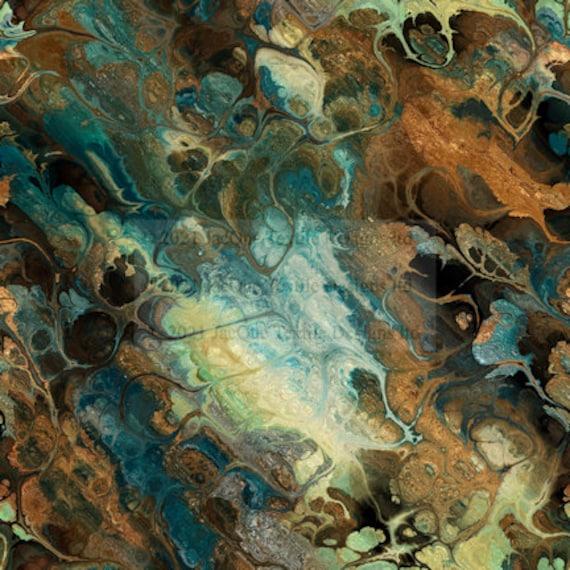 Handmade Velvet Upholstery Fabric Stormy Night Lightening Shimmer Fiber Art Fabric