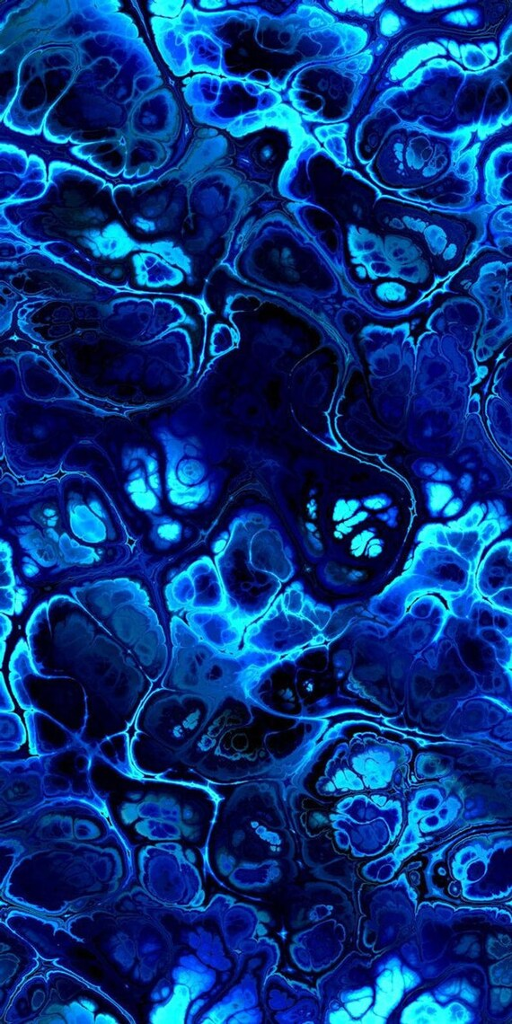 Hand Created Blue Navy Lightening Velvet Upholstery Fabric Fiber Art Modern Fabric