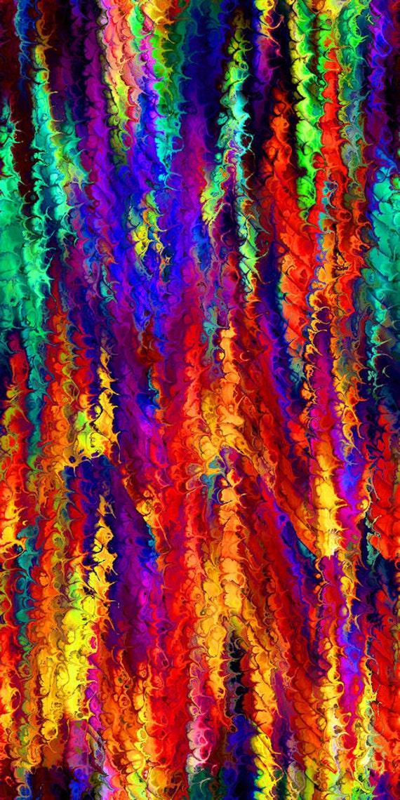 Artist Created SATIN Fabric Fiber Art Fashion Fabric Abstract Weave Brillant Colors