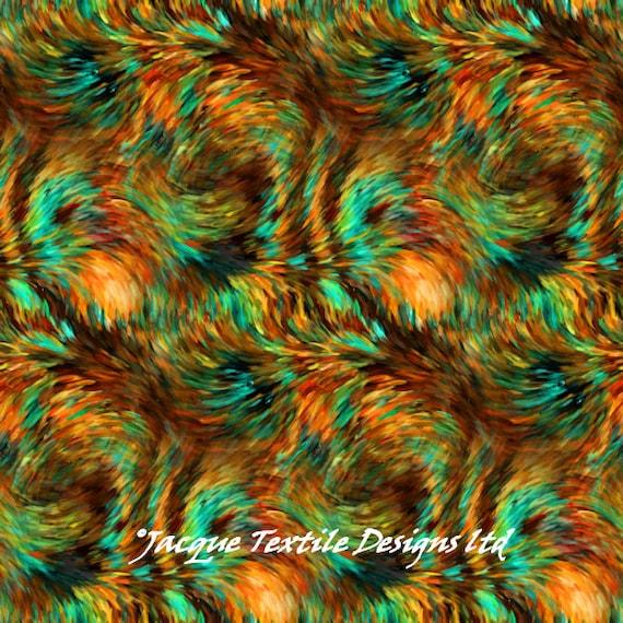 Southwestern Brush Strokes Artist Handmade Lycra Knit Fabric By The Yard Athletic Apparel Swimwear Swim Suit