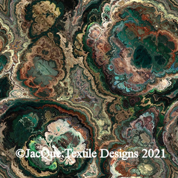 Designer Artist Created Upholstery Canvas Fabric Fiber Art Abstract Abstract Flower Home Decor