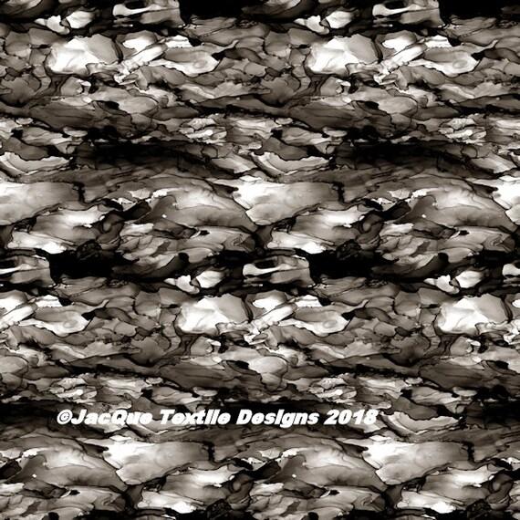 Black White Grey Handmade Artisan Textile Art Velvet Upholstery Fabric Fiber Art Fabric Layers Stone